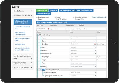Demo of LHC-Forms on iPad
