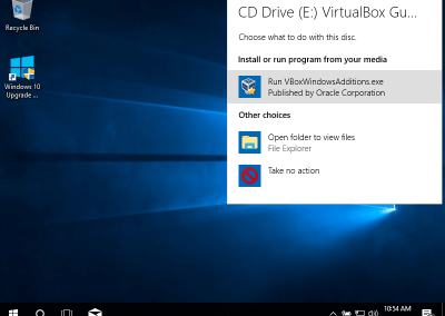 VirtualBox Install Guest Additions