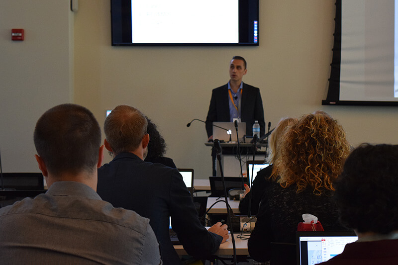 Daniel Vreeman gives the keynote at the LOINC Conference
