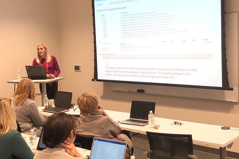 Jami Deckard leads a workshop session