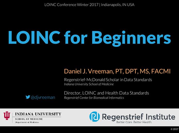 LOINC for Beginners