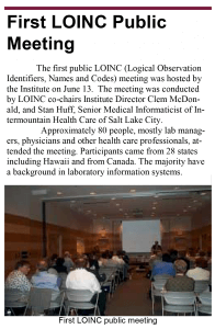 First LOINC Public Meeting