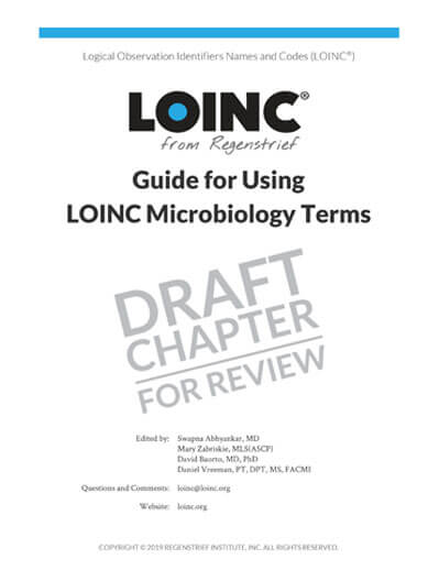 DRAFT Chapter 9 - Guide for Using LOINC Microbiology Terms