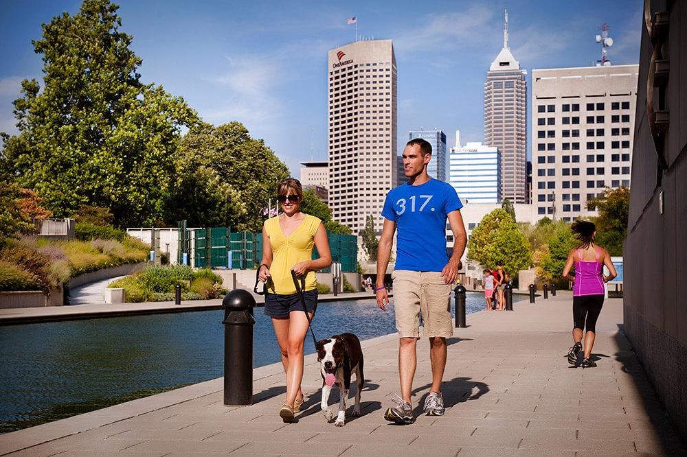 Indianapolis Canal Walk, a brisk walk from Regenstrief Institute
