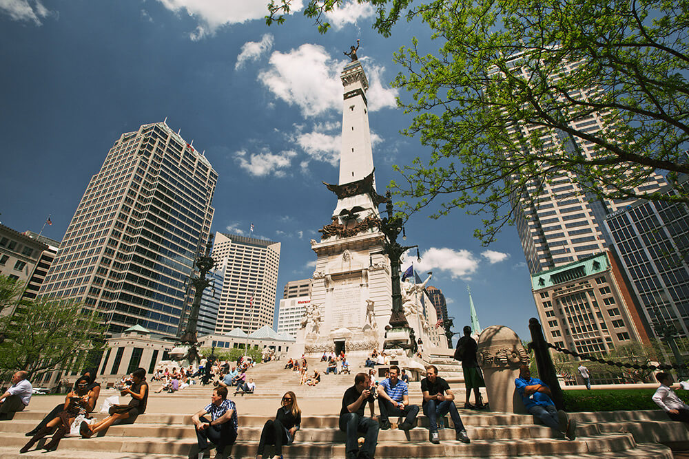Solders and Sailors Monument in downtown Indianapolis