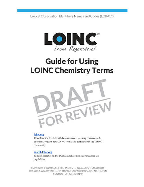Guide for Using LOINC Chemistry Terms
